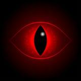 Olho vermelho do dragão do vetor Imagens de Stock Royalty Free