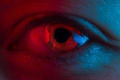 Olho vermelho do sangue imagens de stock royalty free