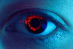 Olho vermelho do sangue imagem de stock