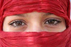 Olhos árabes Imagens de Stock