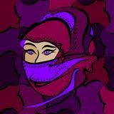 Olhos árabes ilustração stock