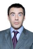 olhos abertos consideráveis choc do homem largamente Foto de Stock Royalty Free