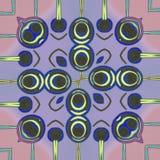 Olhos abstratos azuis dos desenhos animados com linhas de cor clara ilustração do vetor