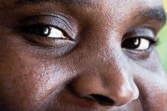 Olhos africanos da mulher Fotos de Stock Royalty Free