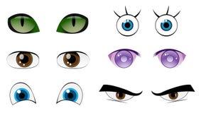 Olhos ajustados Imagem de Stock Royalty Free