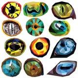 Olhos animais ajustados Fotografia de Stock Royalty Free