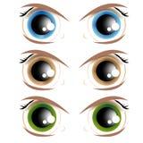 Olhos Animated ilustração do vetor
