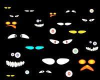 Olhos assustadores ilustração stock
