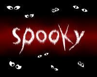 Olhos assustadores de Halloween no preto Imagem de Stock Royalty Free