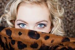 Olhos azuis bonitos Imagens de Stock Royalty Free