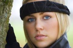 Olhos azuis bonitos demasiado foto de stock royalty free