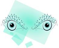 Olhos azuis compostos ilustração do vetor