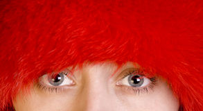 Olhos azuis das mulheres Foto de Stock Royalty Free