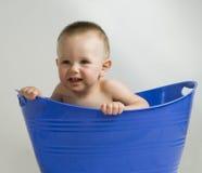 Olhos azuis do bebê fotografia de stock