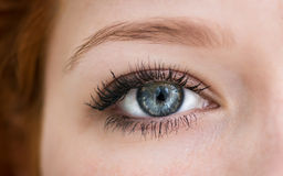 Olhos azuis humanos. fotografia de stock