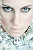 Olhos azuis Piercing Foto de Stock Royalty Free