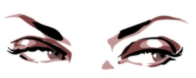 Olhos Bistred Fotografia de Stock Royalty Free