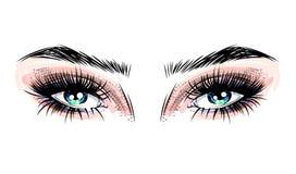 olhos Cinzento-azuis Imagem de Stock Royalty Free