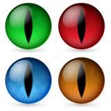 Olhos coloridos do dragão ilustração do vetor