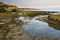 Olhos D'Agua, Algarve Photos libres de droits