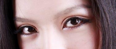 Olhos da mulher asiática Fotografia de Stock Royalty Free