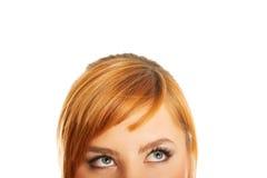 Olhos da mulher com chicotes longos Fotos de Stock Royalty Free