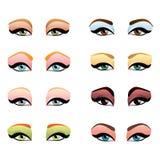Olhos da mulher com composição diferente Imagem de Stock Royalty Free