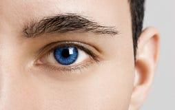 Olhos de azuis Fotos de Stock Royalty Free