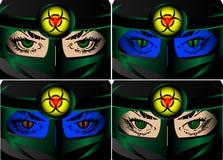 Olhos de Biohazard Fotos de Stock