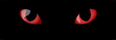 Olhos de gatos vermelhos Fotos de Stock Royalty Free