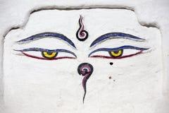 Olhos de Nepal imagem de stock