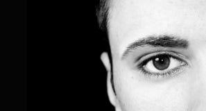 Olhos de um homem Fotos de Stock Royalty Free