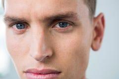 Olhos de um homem Foto de Stock