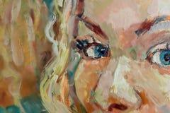 Olhos de uma menina Fotos de Stock Royalty Free