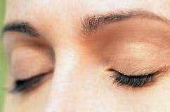 Olhos de Womans Fotografia de Stock