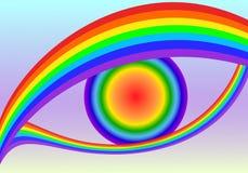 Olhos do arco-íris ilustração stock