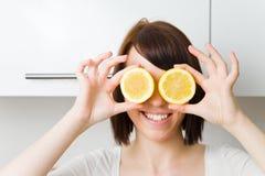 Olhos do citrino fotos de stock