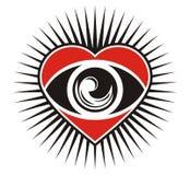Olhos do coração Imagem de Stock