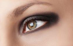 Olhos do fumo Imagem de Stock Royalty Free
