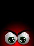 Olhos do monstro de Dia das Bruxas com lugar para o texto Foto de Stock