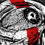 Olhos do projeto doloroso da raiva ilustração stock
