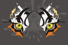 Olhos do tigre Fotos de Stock Royalty Free