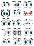 Olhos dos desenhos animados Fotos de Stock