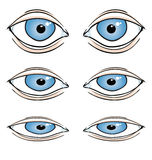 Olhos dos desenhos animados ilustração royalty free