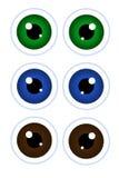 Olhos dos desenhos animados. Fotos de Stock