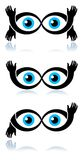 Olhos engraçados ilustração royalty free