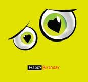 Olhos engraçados do sorriso do cartão Fotografia de Stock