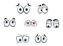 Olhos engraçados dos desenhos animados Fotografia de Stock Royalty Free