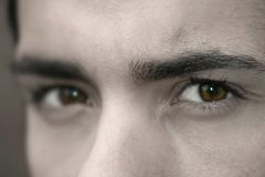 Olhos escuros Fotografia de Stock Royalty Free