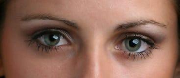 Olhos espiando foto de stock